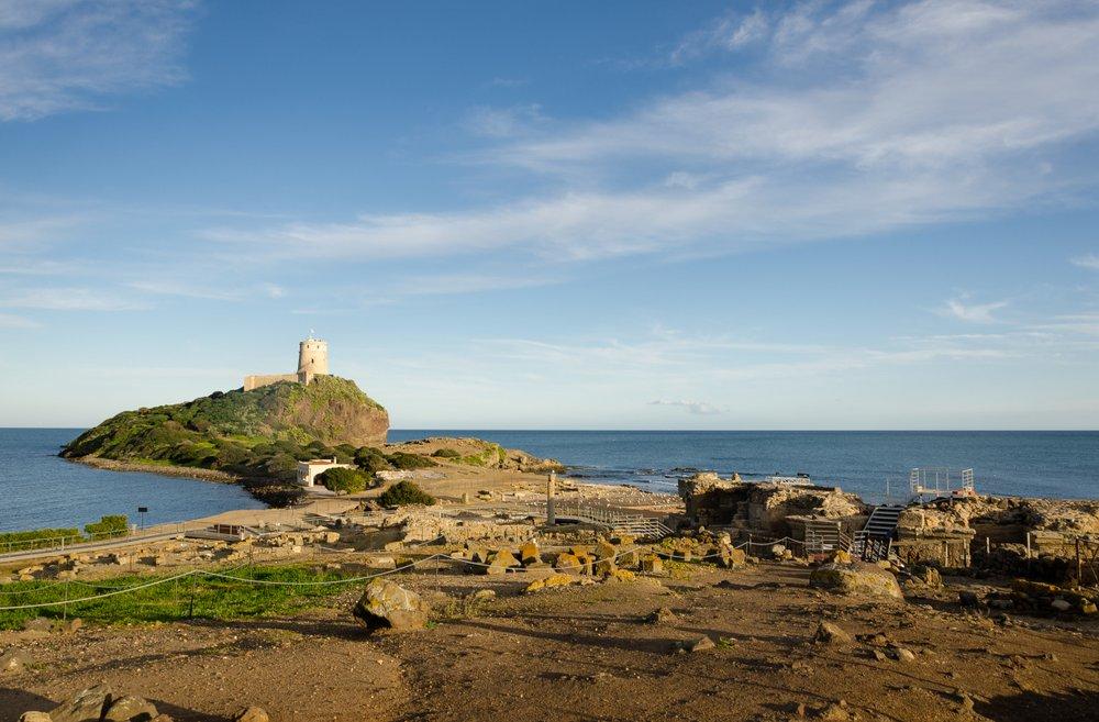 Sardegna, area archeologica di Nora, vicino a Pula
